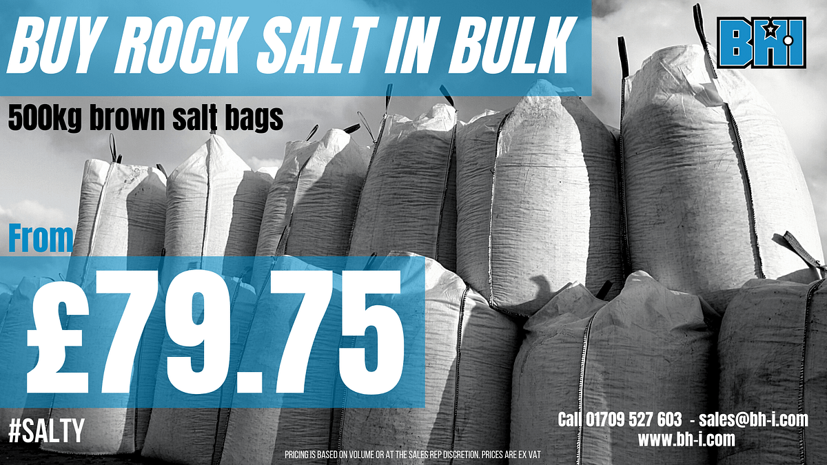 BHI rock Salt bulk offer 500kg